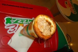 Cone Pizza: recheio de atum